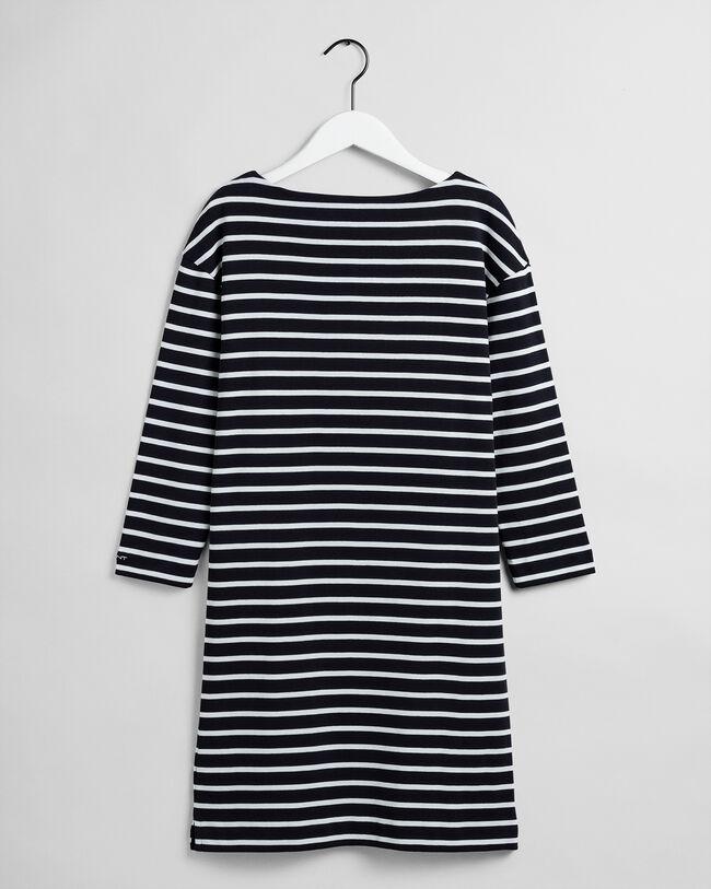 Jerseykleid mit Marinestreifen