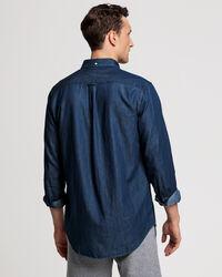 Indigoblaues Regular Fit Hemd