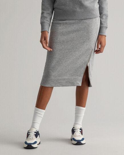 Jersey Sweatrock mit Reißverschluss