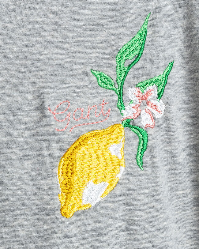 Teen Girls Summer T-Shirt mit Stickerei