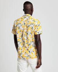 Lemon Print Regular Fit Kurzarm Hemd