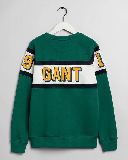 Teen Boys 3D GANT Varsity Rundhals-Sweatshirt