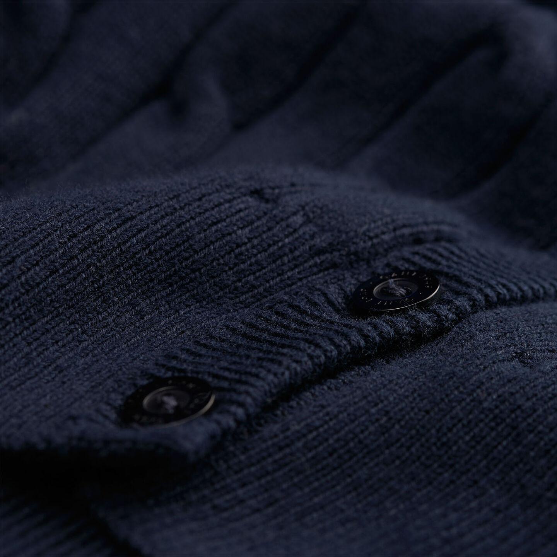 Strickjacke aus Stretch-Baumwolle mit Zopfmuster