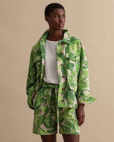 Palm Breeze Feldjacke mit Print