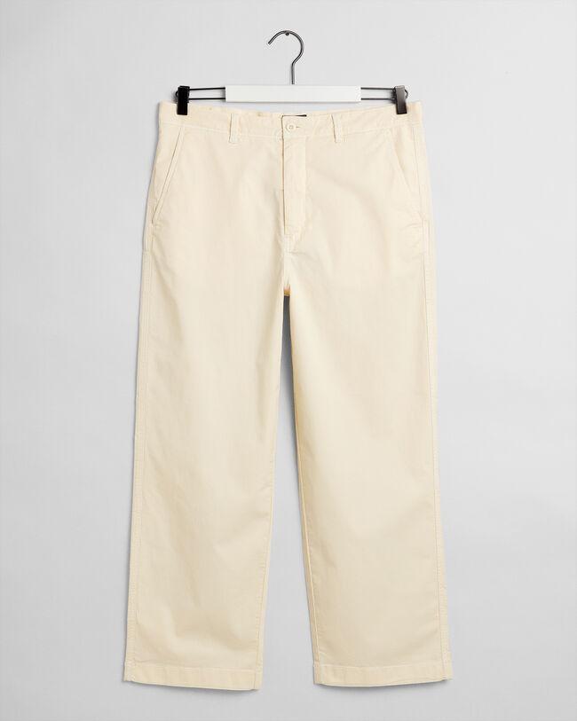Wide Leg Cotton Chinos