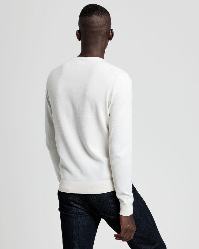 Pure Prep Pullover mit Rollkante am Ausschnitt