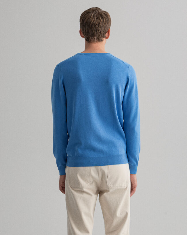 Classic V-Neck Pullover aus Baumwolle