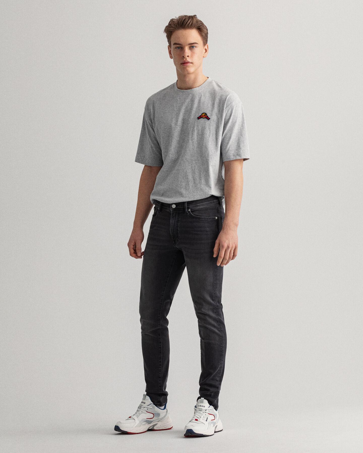 Schwarze Maxen Extra Slim Fit Active-Recover Jeans