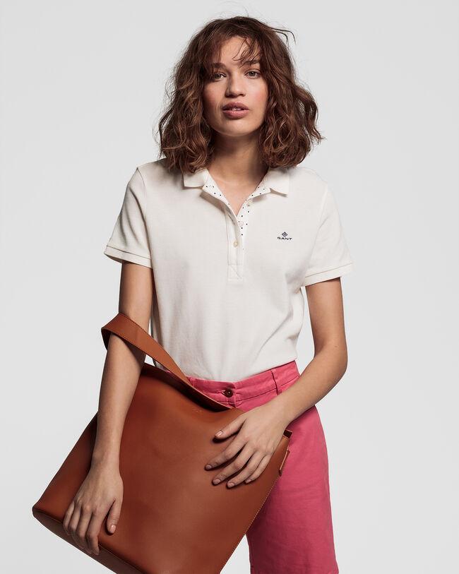 French Dot Detail Piqué Poloshirt