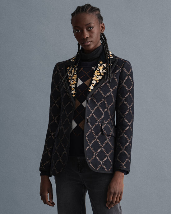 Taillierter Garland Blazer mit Print