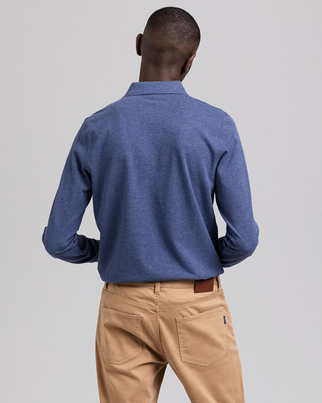 Original Piqué Langarm-Poloshirt