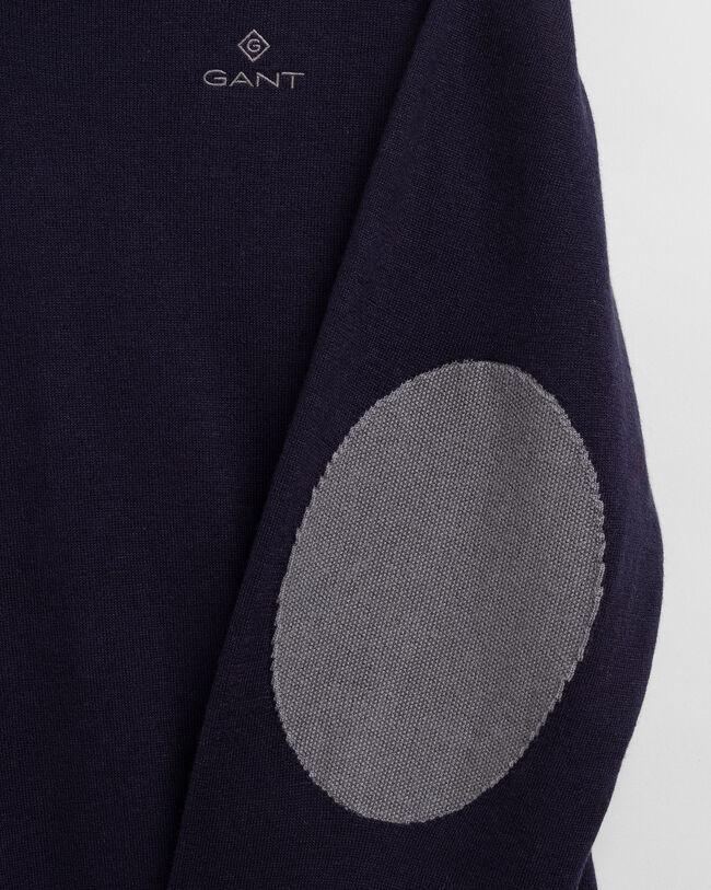 V-Neck Pullover mit Ellbogenpatches