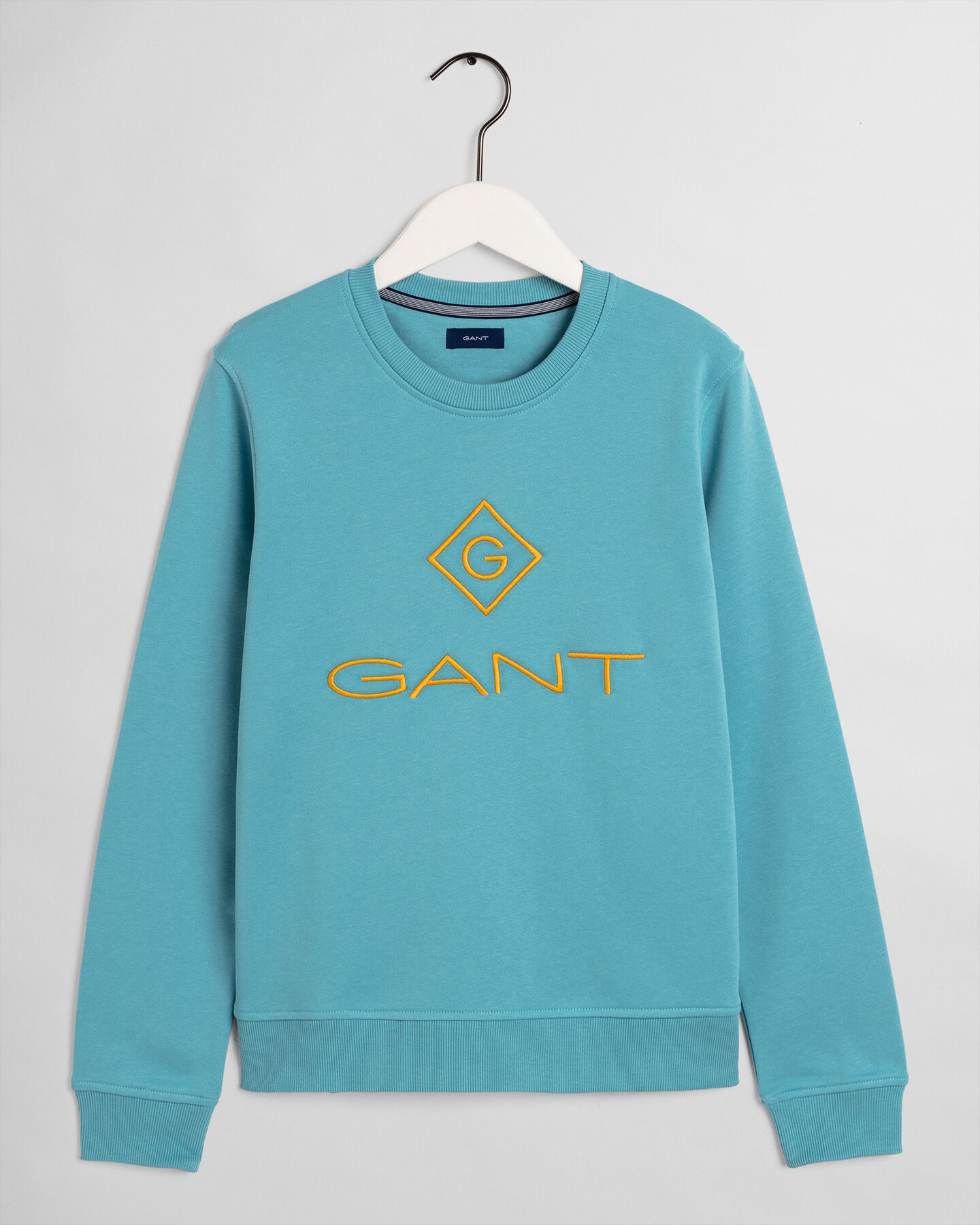 Rundhals-Sweatshirt mit farbigem Logo