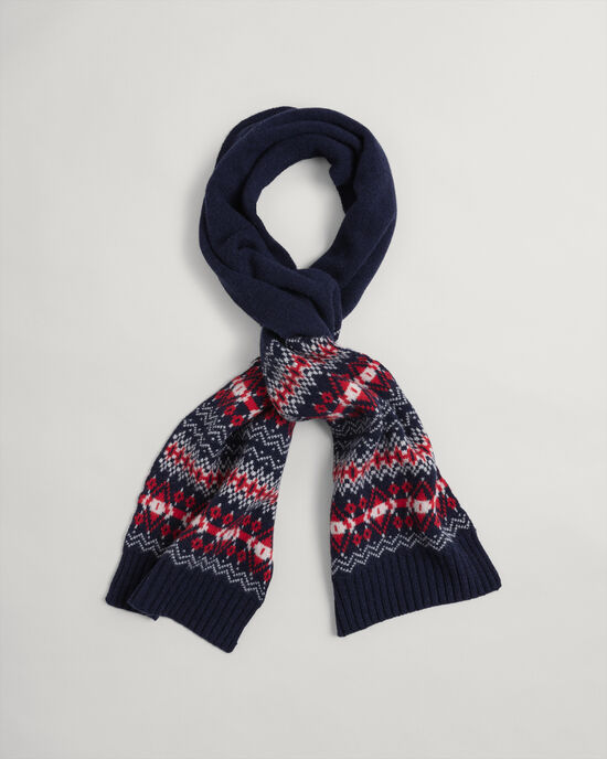 Holiday Schal mit Fair-Isle-Muster