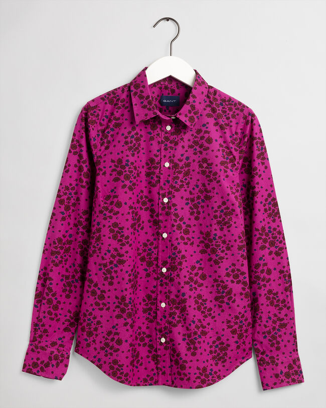 Fall Flower Stretch Broadcloth Bluse