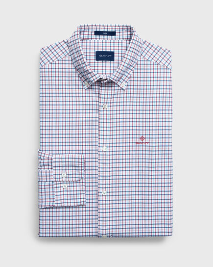 Kariertes Slim Oxford Hemd