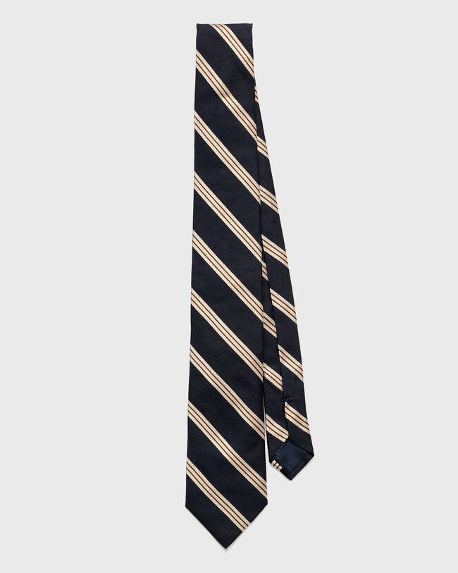 Krawatte mit Regimentsstreifen