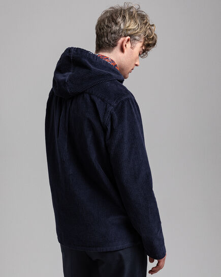 Cord-Hemdjacke mit Kapuze