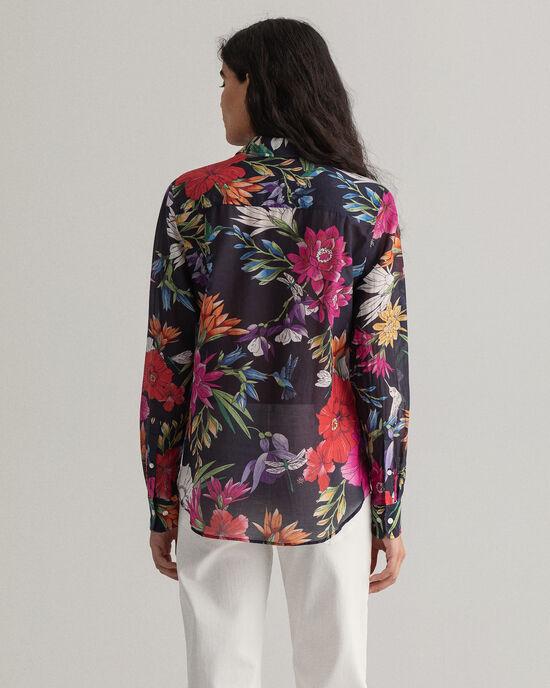 Humming Floral Bluse aus bedruckter Baumwolle mit Seidenanteil