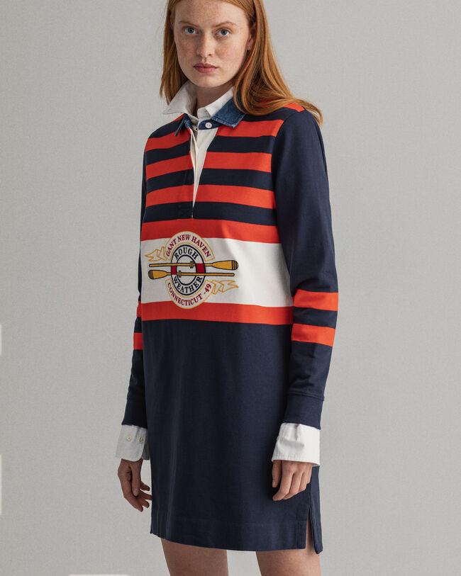 Rough Weather Heavy Rugger Kleid mit Streifen