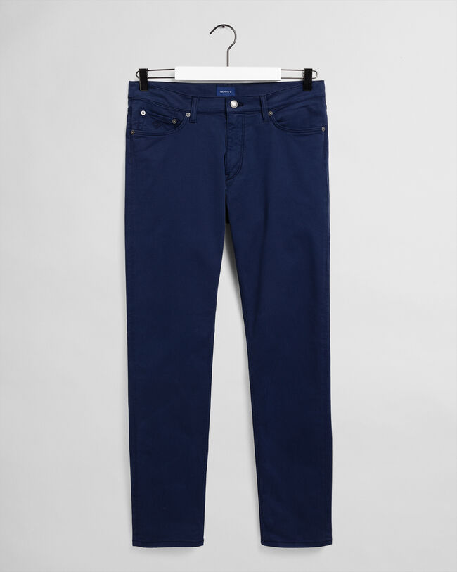 Tapered Satin Jeans