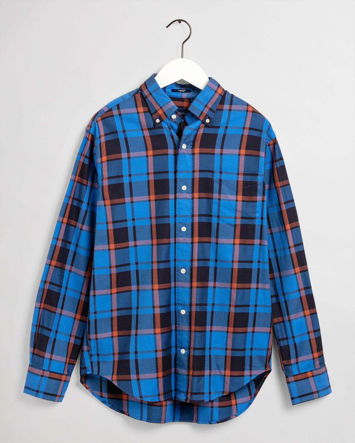 Pure Prep Hugger-Fit Twill Hemd mit Karomuster