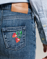 Girls Summer Denim Rock mit Stickerei