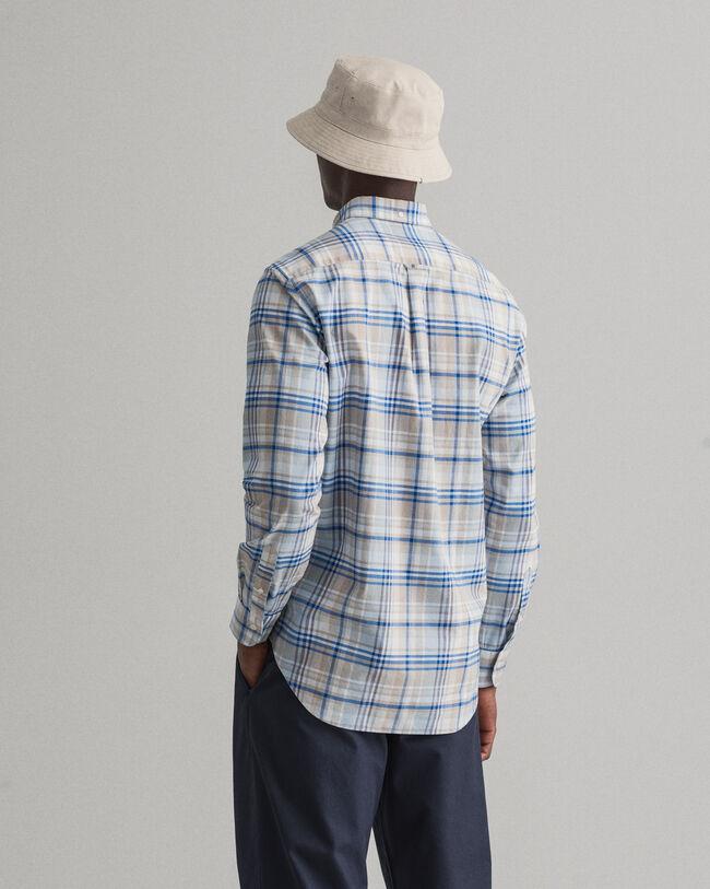 Regular Fit Tartan Oxford-Hemd