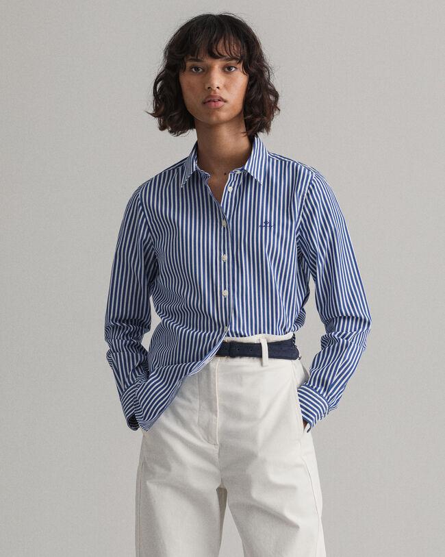 Broadcloth Bluse mit Streifen