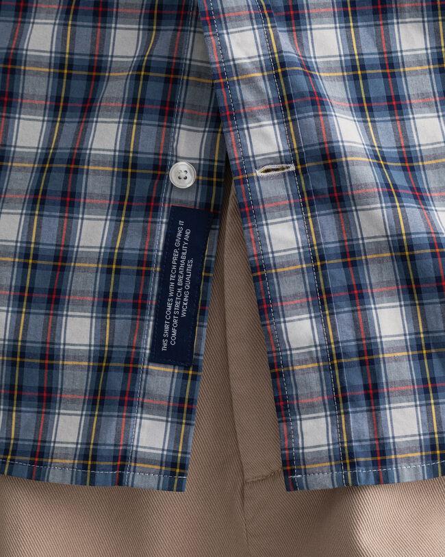 Tech Prep™ Regular Fit Kurzarm Hemd mit buntem Karomuster