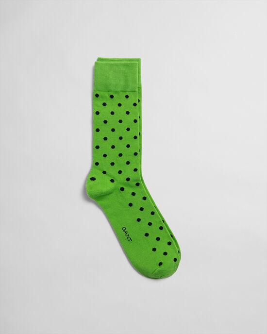 Socken mit großem Punktmuster