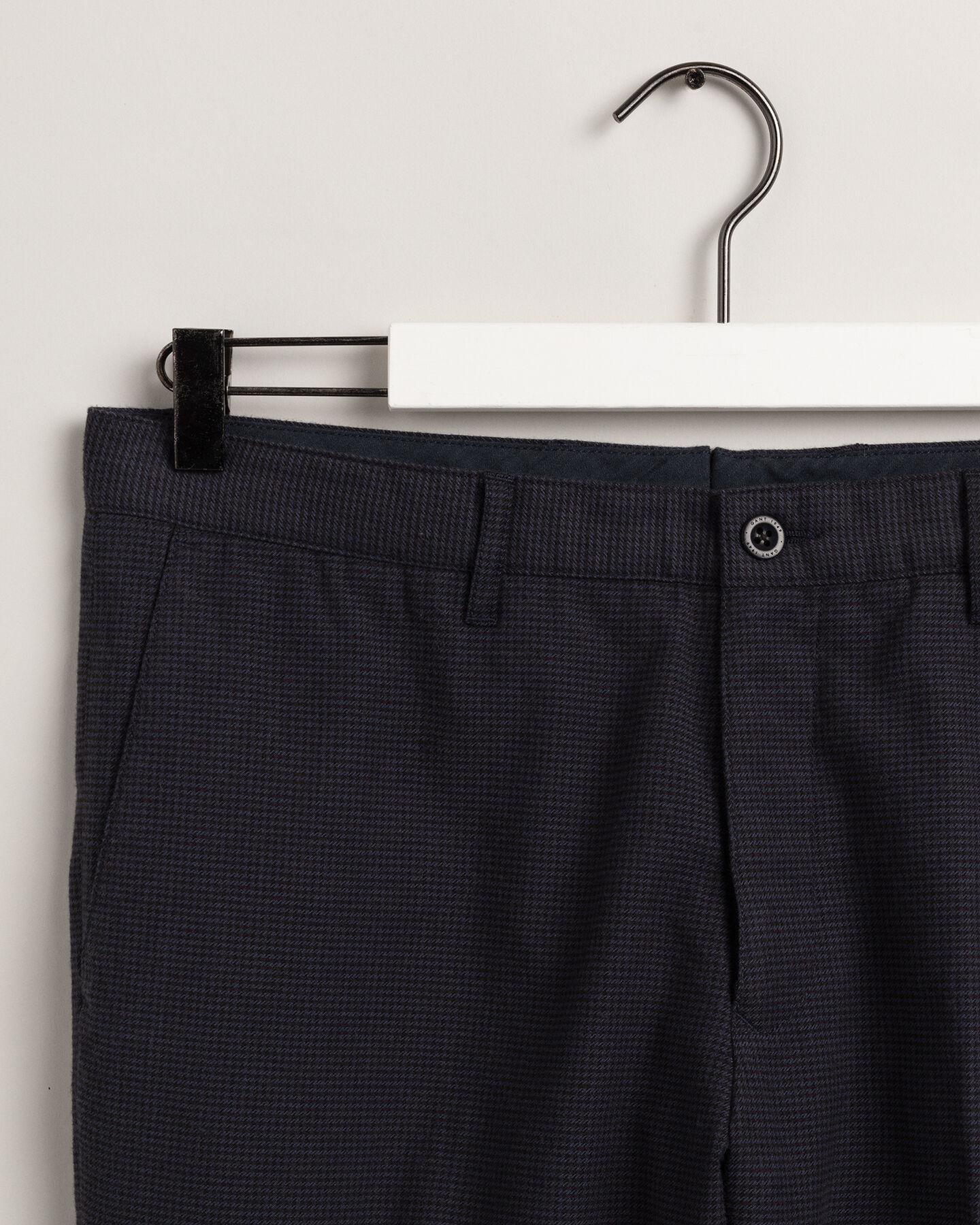 Zweifarbige Slim Fit Hose