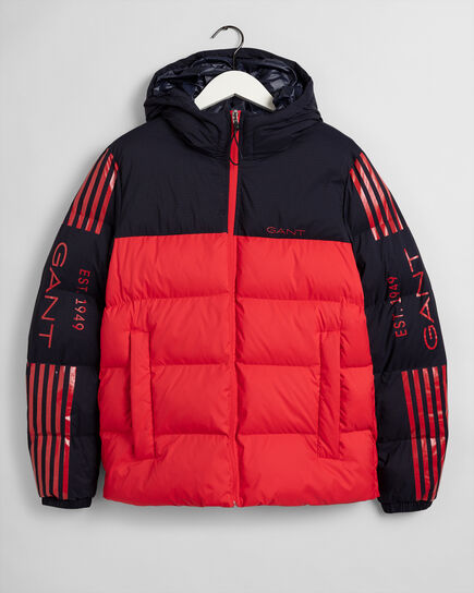 13 Stripes Steppjacke im Blockfarbendesign