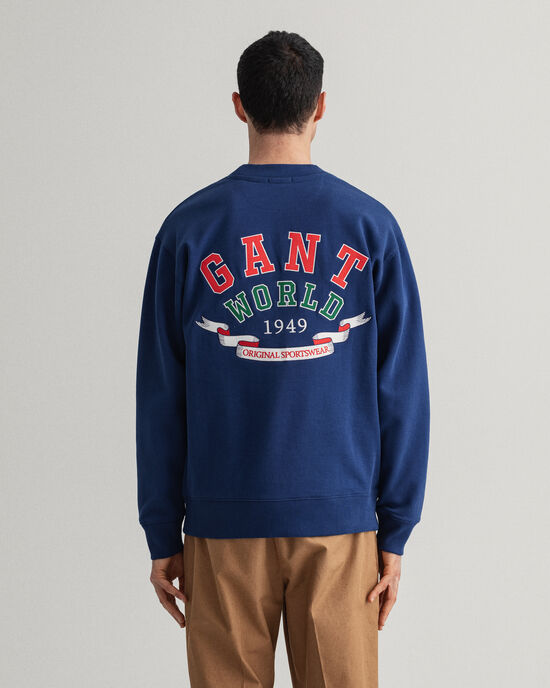 Relaxed Fit World Crest Rundhals-Sweatshirt