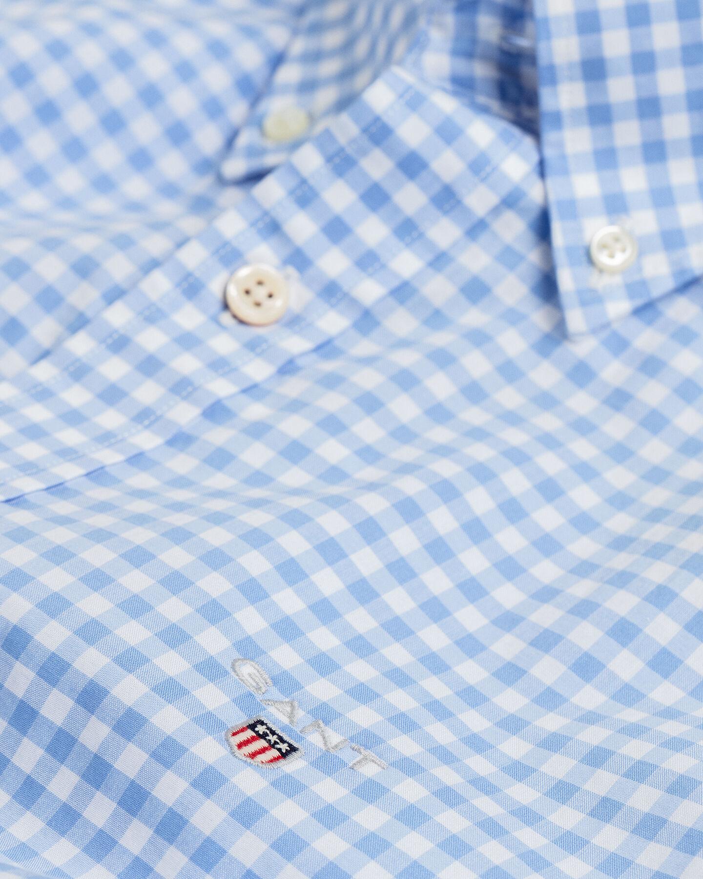 Slim Fit Broadcloth Hemd mit Vichy-Karo