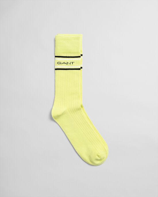 Logo Socken mit Streifen