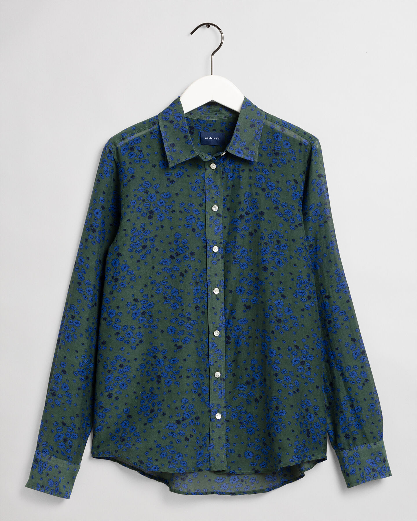 Fall Flower Baumwoll Seiden Bluse