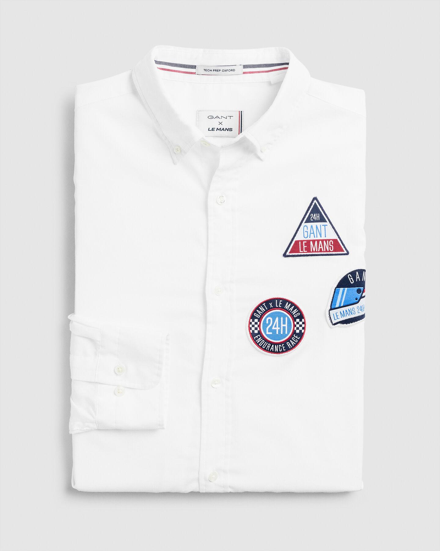 Tech Prep™ Le Mans Badges Regular Fit Oxford-Hemd