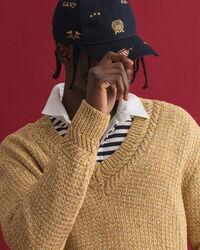 Twisted Color V-Neck Pullover