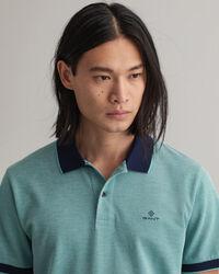 Oxford Piqué Rugger Poloshirt in 4 Farben