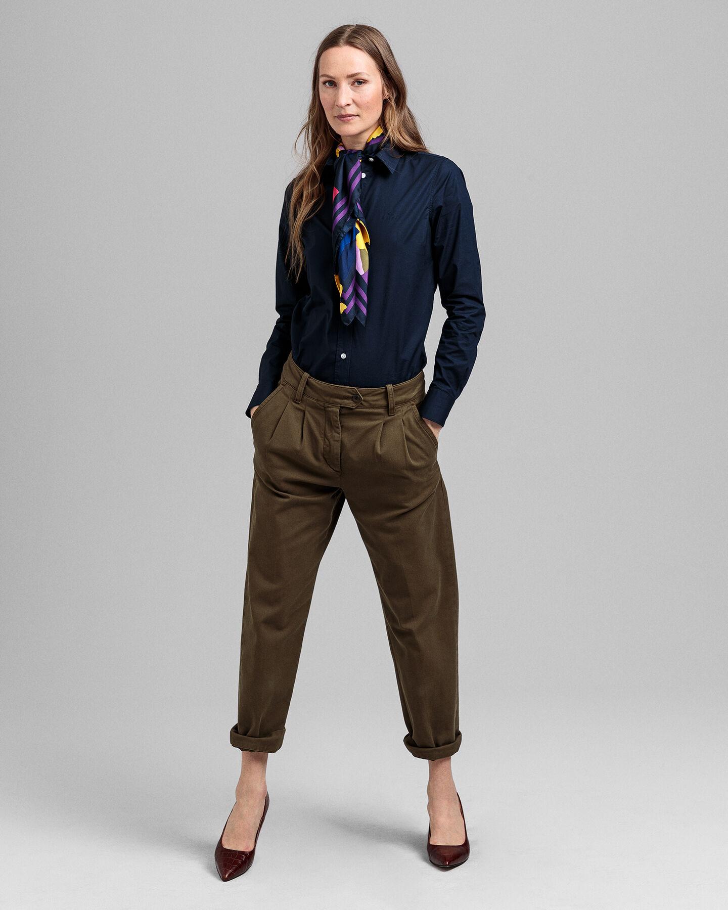 Stretch Broadcloth Bluse