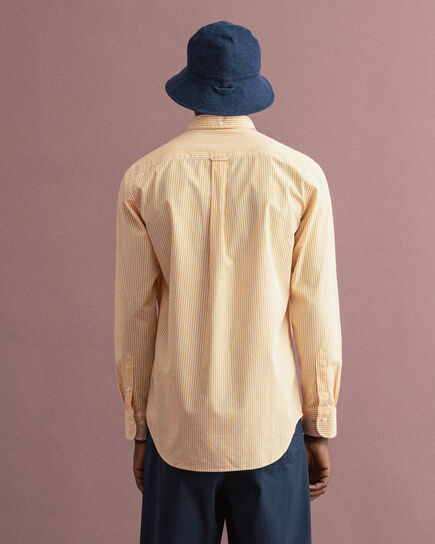 Regular Fit Broadcloth Hemd mit Streifen