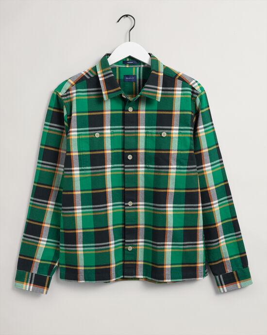 Hemdjacke mit auffälligem Karomuster