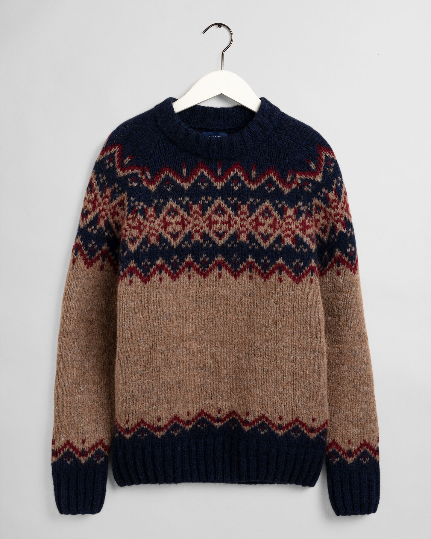 Holiday Rundhalspullover mit Fair-Isle-Muster