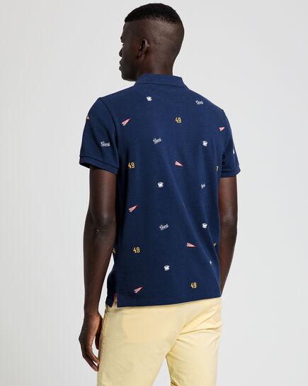 Piqué Poloshirt mit französischer Stickerei