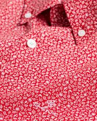 Slim Fit Hemd mit Mini-Blumenprint