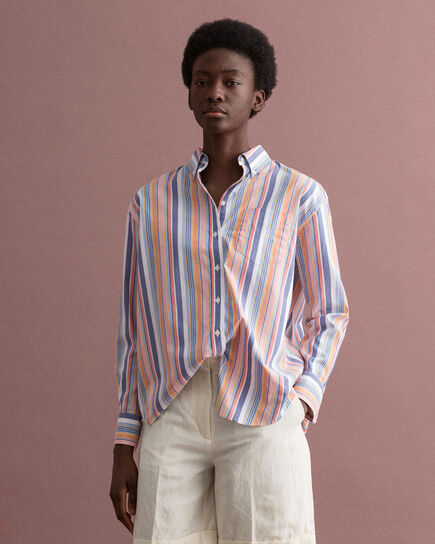 Pinpoint Oxford-Bluse mit bunten Streifen