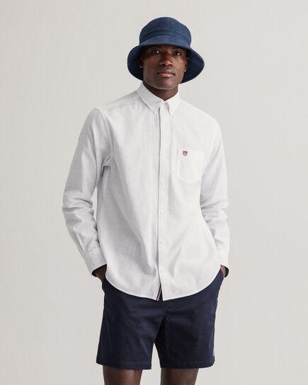 Regular Fit Twillhemd aus Flammgarn