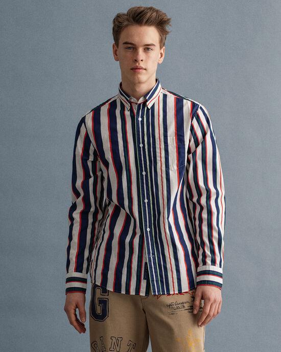 Regular Fit Hemd mit Streifen-Print