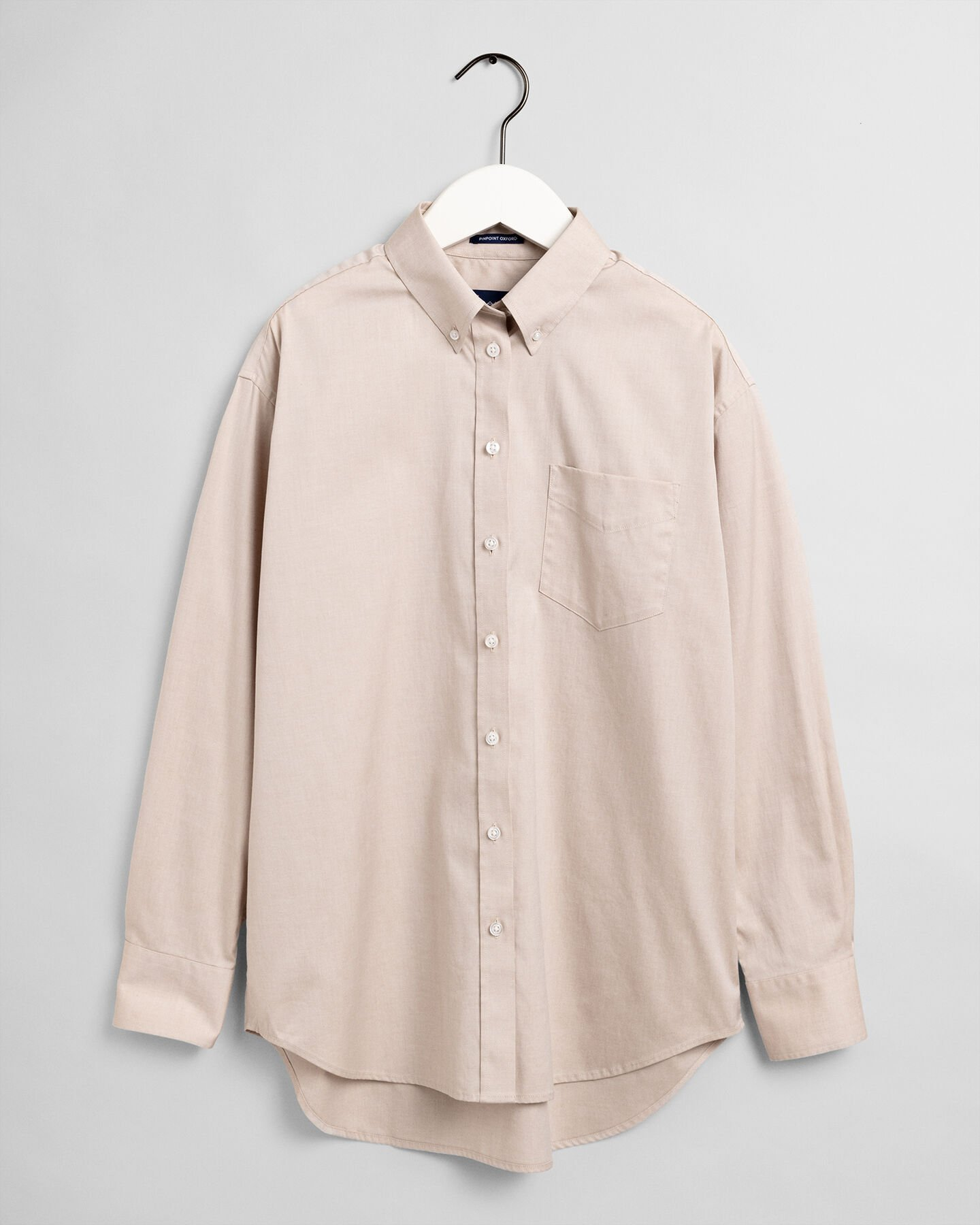 Relaxed Fit Pinpoint Oxford-Bluse